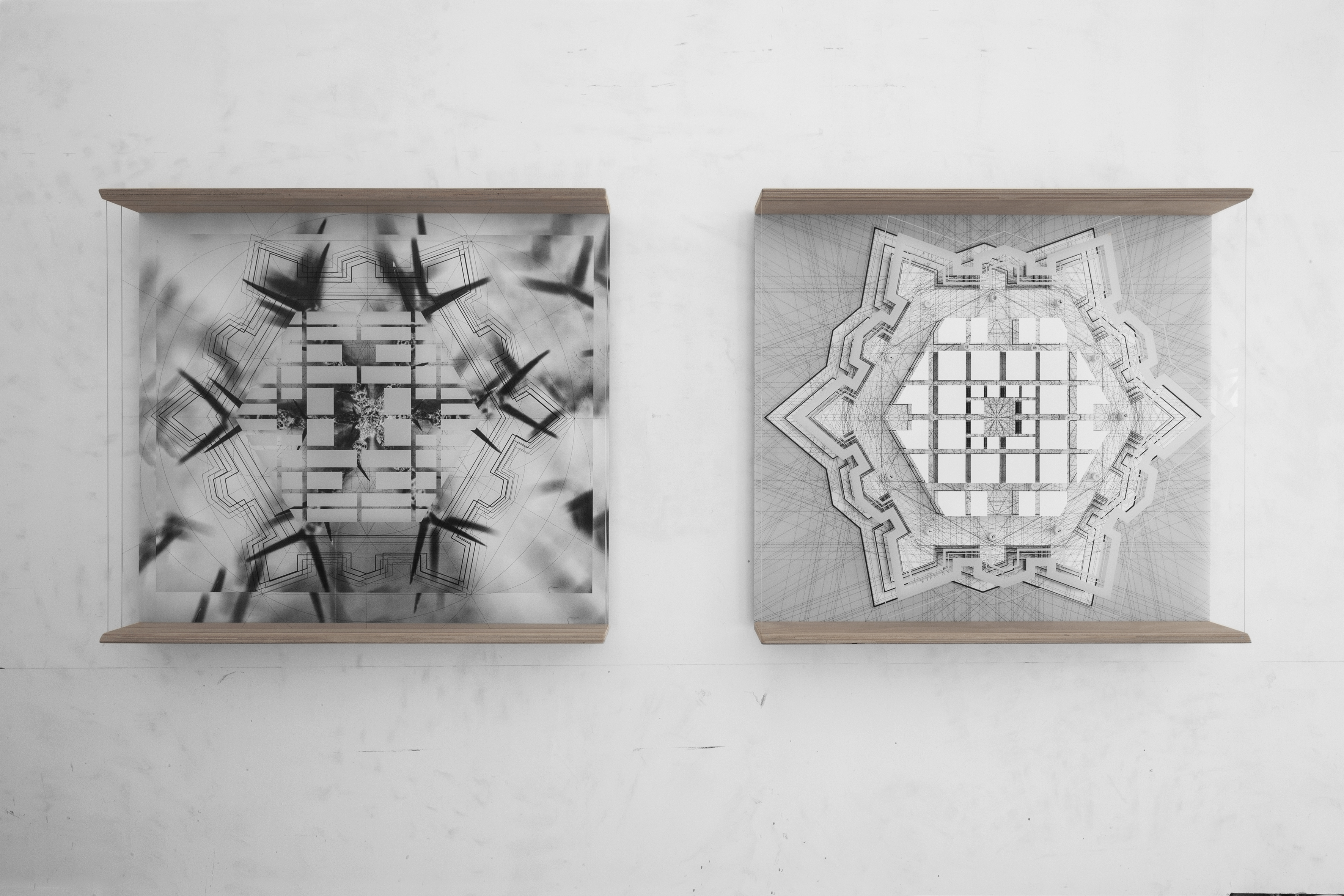 robn_07. 05.14_27.08 _hexagon _study for ideal city _pietro cataneo _avola _1567/2018 (diptyc)