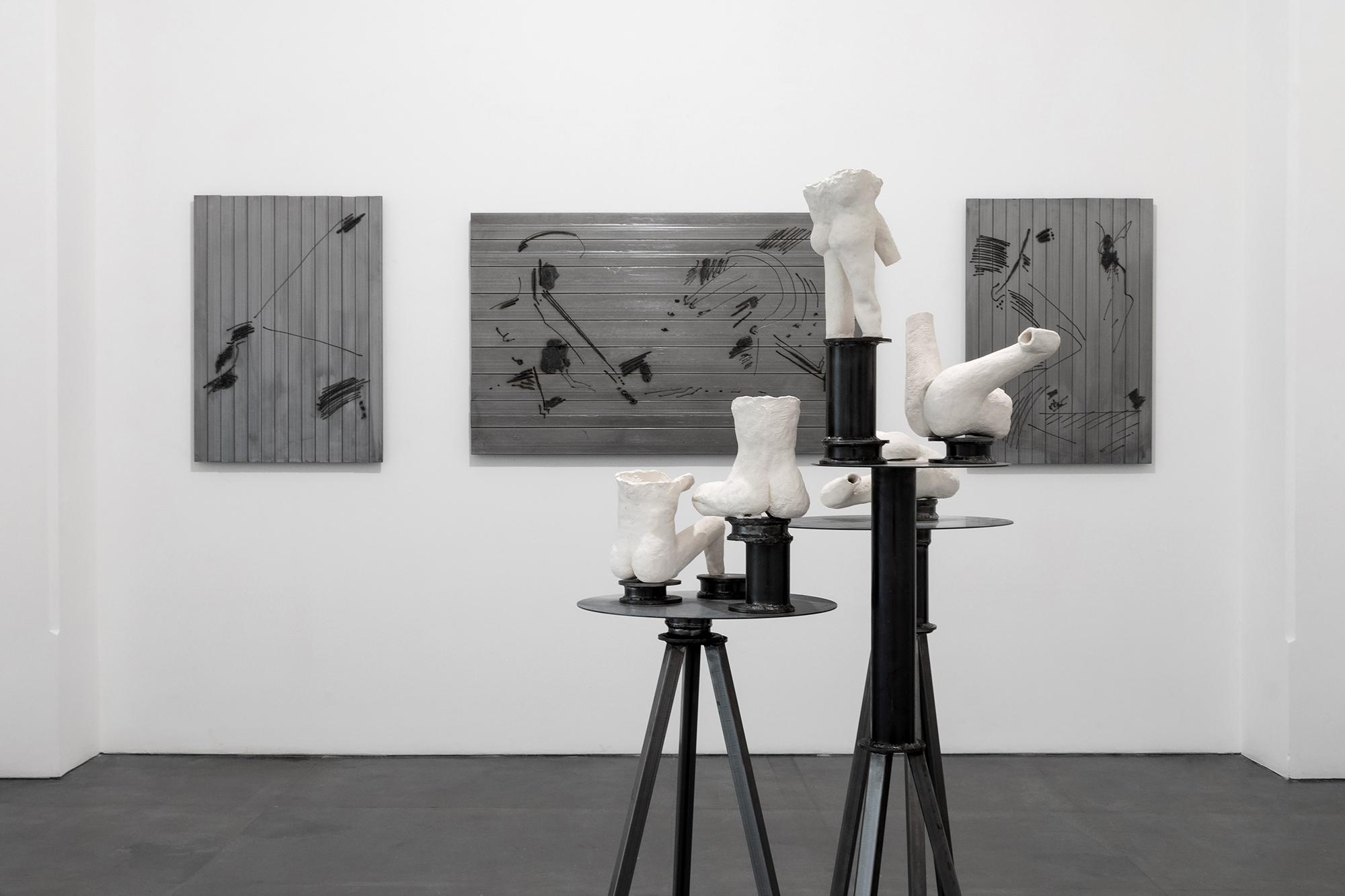 Installation view della mostra personale di Luca Monterastelli